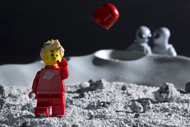 Lego Cosmonaut has clearly had enough.