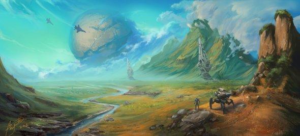 Wenmo Zhang artstation arte ilustrações fantasia ficção games