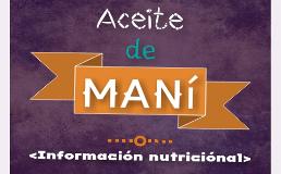 aceite mani informacion nutricional nutrientes