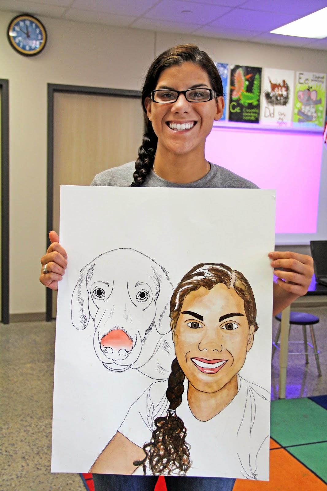 smart class  surreal self portrait teacher staff