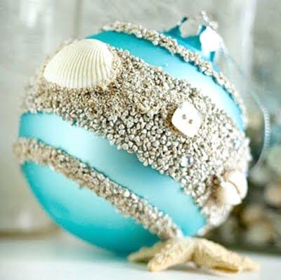 sand glued on ball ornament