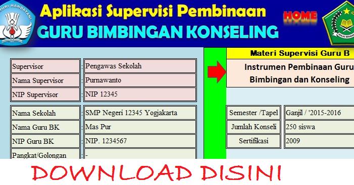 Aplikasi Supervisi Untuk Guru Bk Terbaru Info Guru Indonesia