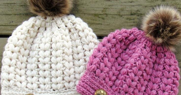 Crochet Dreamz Pearl Beanie Puff Stitch Crochet Hat Pattern