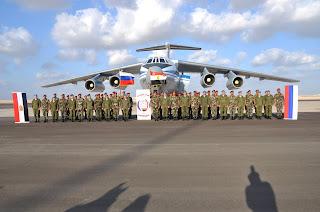 إنطلاق فعاليات تدريب (حماة الصداقة 2016) ووصول وحدات الإنزال الجوى الروسية لمنطقة التدريب المشترك