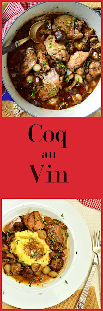 Coq au Vin, is a heartwarming dish. Made with mushrooms and onions and a rich wine stock, this is a meal to remember. www.thisishowicook.com #chickenrecipes #coqauvin