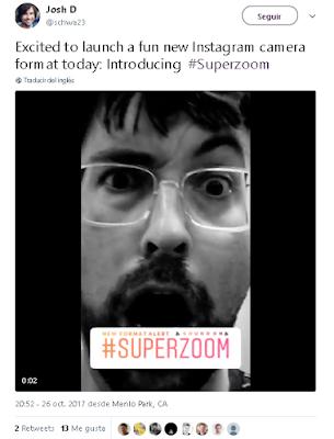 Hoy emocionado por el lanzamiento de un nuevo y divertido formato de la cámara de Instagram: Presentamos #Superzoom