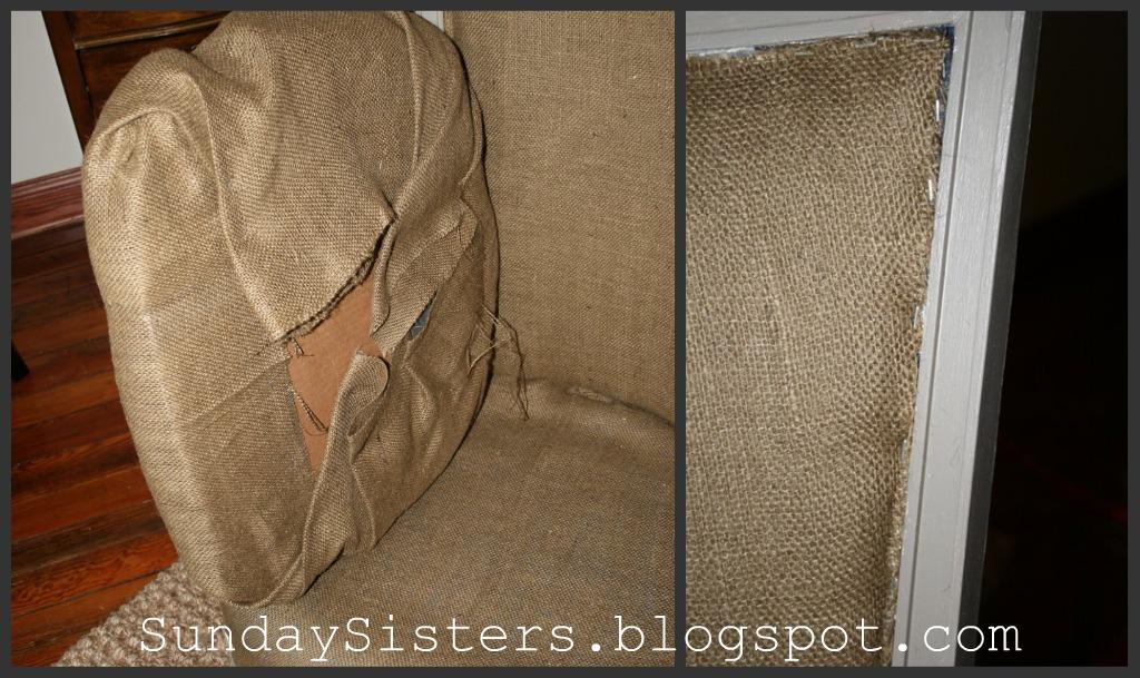 DIY: No Sew Burlap Chair- Restoration Hardware Style ...