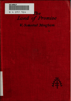 The Land of Promise, 1922 Heinemann - W. Somerset Maugham