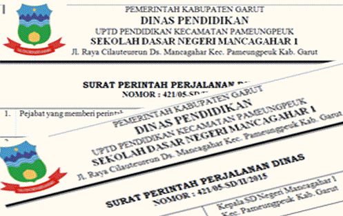 Format Surat Perintah Perjalanan Dinas