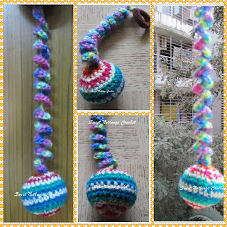 free crochet kitten bouncy toy, amigurumi toy