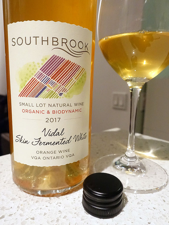 Southbrook Vidal Skin Fermented White Orange Wine 2017 (91 pts)