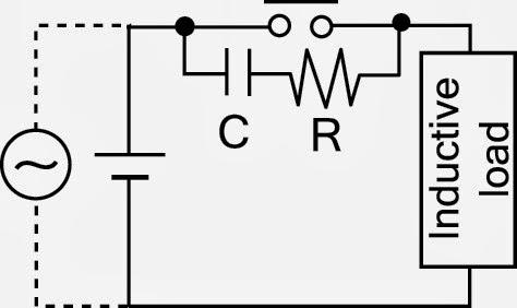 วงจรป้องกันหน้าคอนแทครีเลย์ (Snubber Circuit For Relay