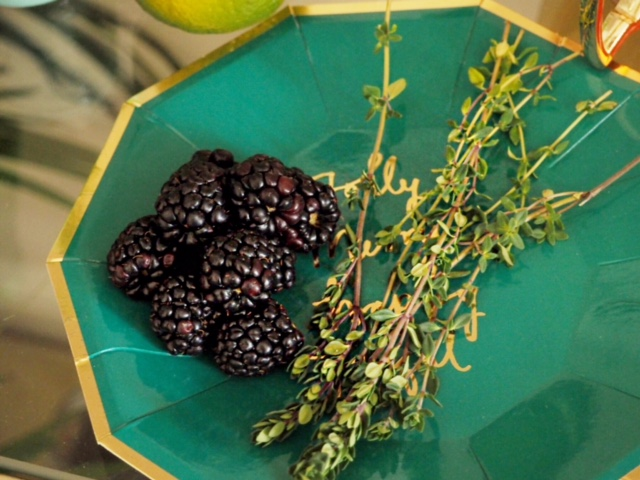 blackberries and thyme
