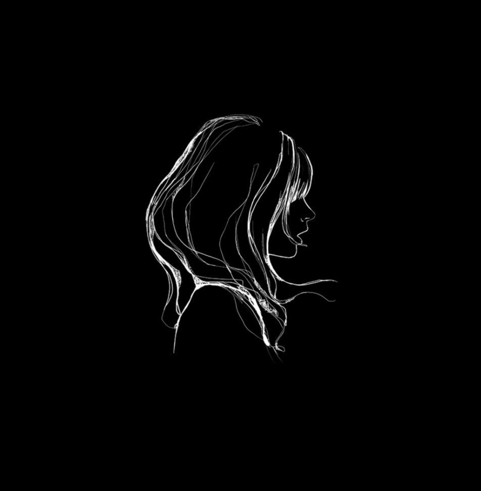 I Love Papers az88 drawing simple minimal girl illustration art dark