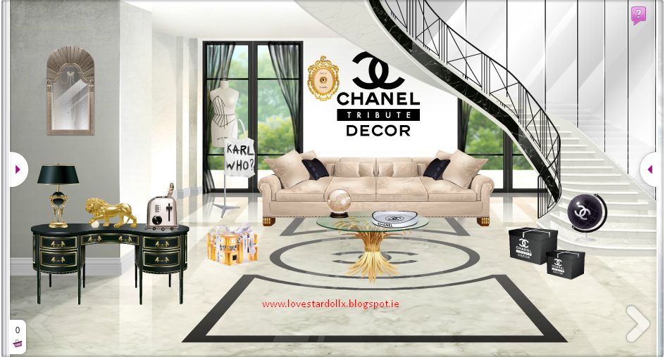 Love Stardoll New Chanel Decor Tribute!