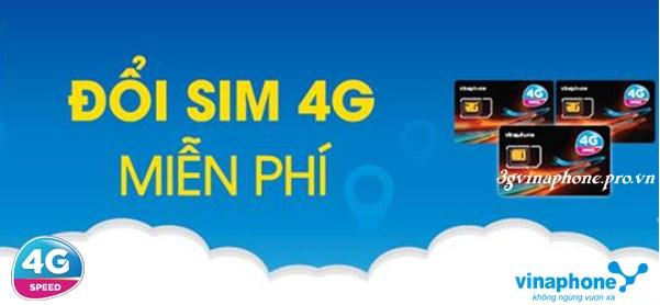 Vinaphone miễn phí đổi sim 4G đến hết ngày 31/3/2017