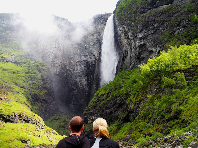 Vettisfossen, vodopád, přímý vodopád, Norsko, voda, příroda, Jotunheimen, trek, turistika