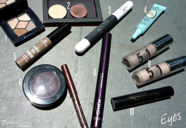 What's in my travel makeup bag? Eyes