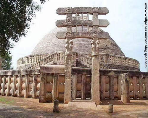 Sanchi Stupa Wallpaper Hd: Historical Monuments Of India Wallpapers