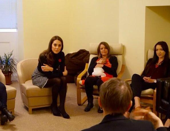 Kate Middleton wore Mulberry Paddington Coat and Dolce & Gabbana Boucle Wool Blend Skirt