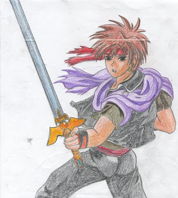 Orphen from the anime Sorcerous Stabber Orphen...I was rather obsessed with his character design, which you will see comes into play later down the line...