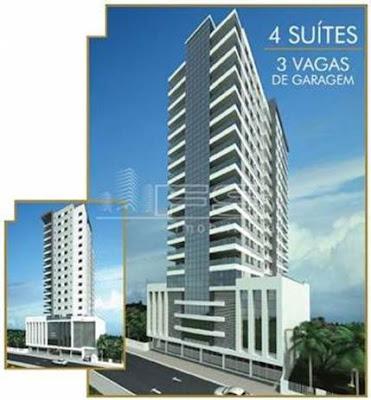 ref 24 - Solar Tower Residence - Lançamento - 4 suítes  3 vagas de garagem em Meia Praia - Itapema/SC
