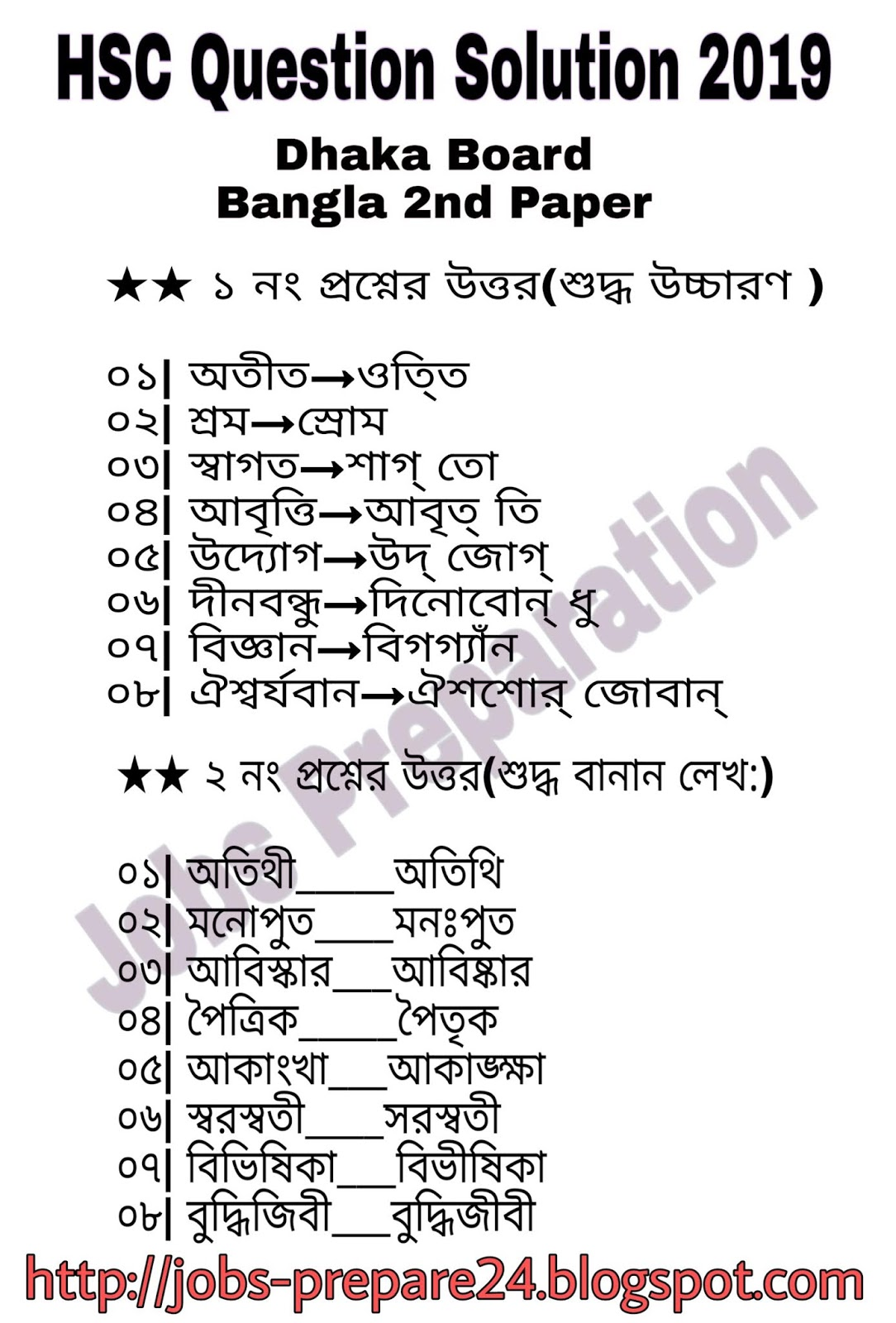 HSC Bangla 2nd Part All Board Question Solutions 2019