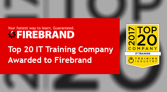 Firebrand wins Top 20 IT Training Company 2018