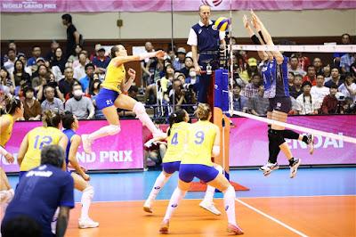 Brasil perde para o Japão no Grand Prix 2017 seleção brasileira vôlei feminino
