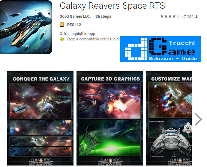 Trucchi Galaxy Reavers-Space RTS Mod Apk Android  v1.2.14