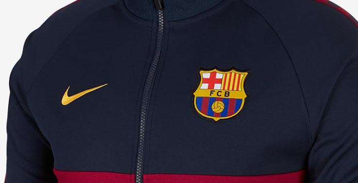free shipping 6b765 091aa Nike Barcelona 19-20 I96 Anthem Jacket Released - Footy ...