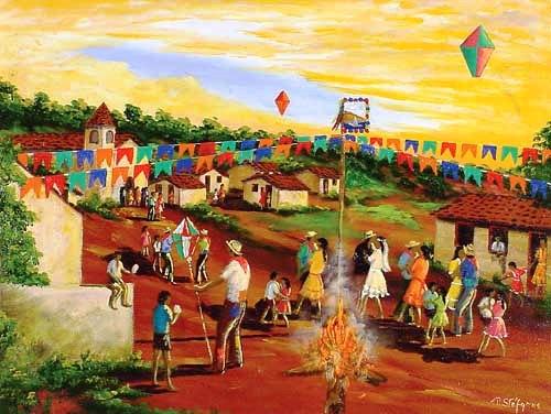 Festa Junina nas pinturas