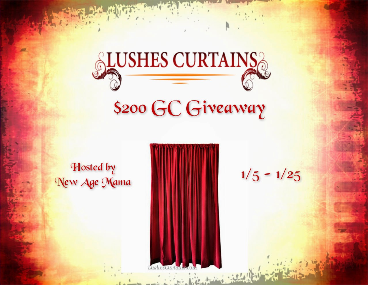 Enter the Lushes Curtains Giveaway. Ends 1/24.