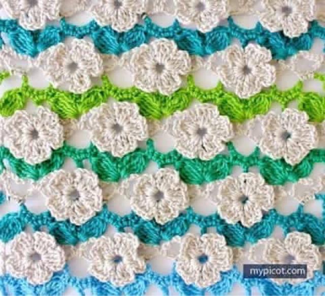 Punto Flor a Crochet Paso a Paso