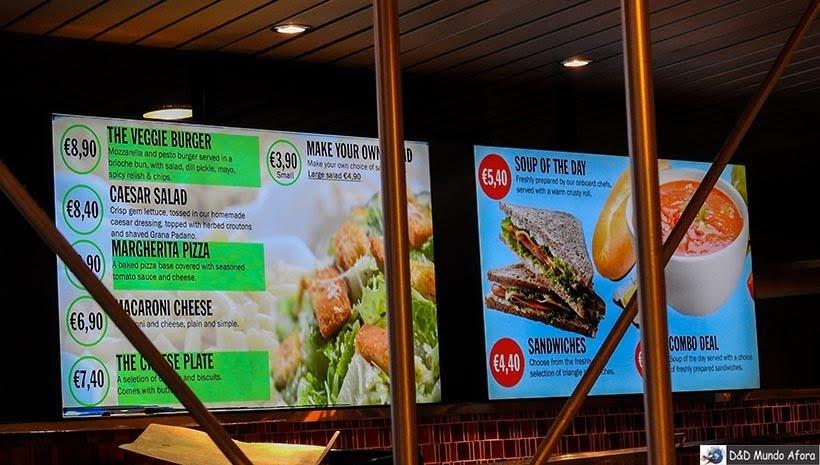 Restaurante no ferry da Stena Line - De Londres a Amsterdam: como fazer o trajeto de navio