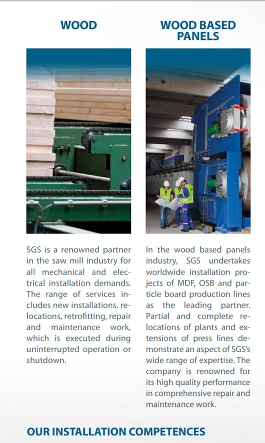 Partner in the sawmill and wood based panels industry