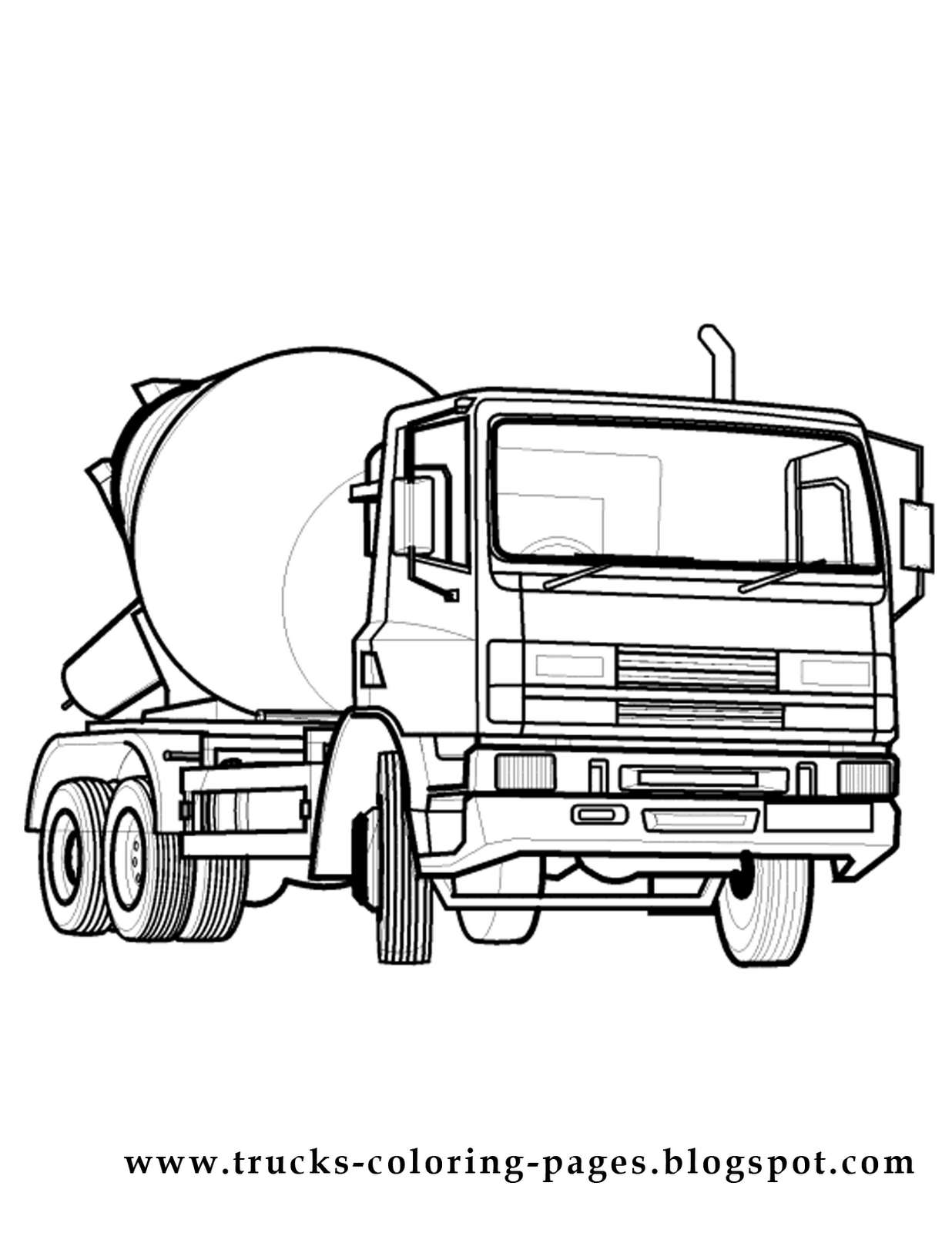 Printable coloring pages of cars and trucks 9 image for Coloring pages cars and trucks