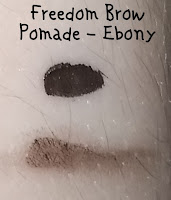 Freedom-Makeup-Eyebrow-Pomade-Ebony-Review-Swatch