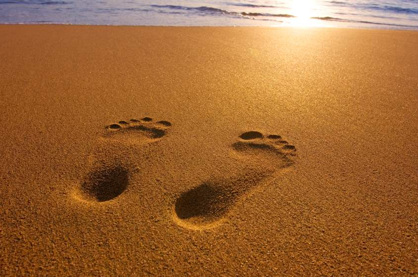 Inspirations for Living: Footprints
