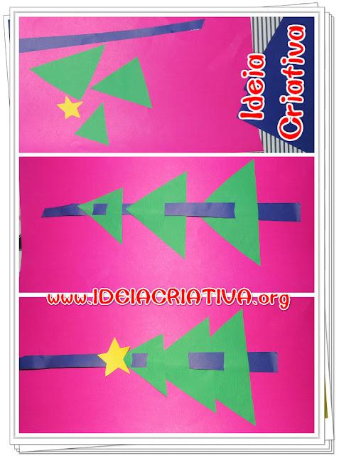 Atividade Natalina Pinheirinho de Natal Forma Geométrica Triângulo