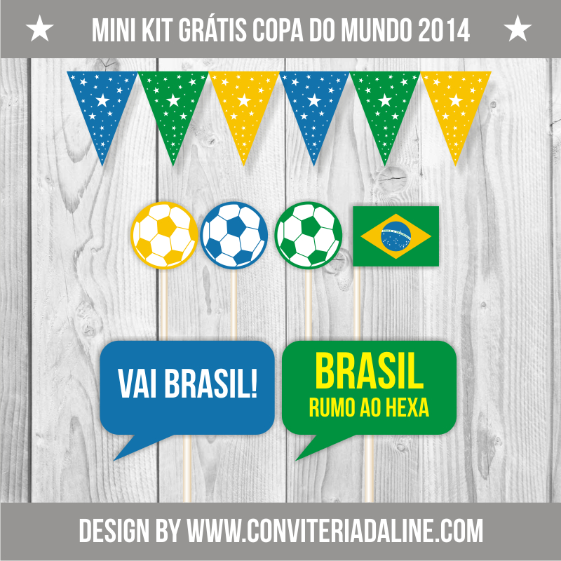 kit grátis para imprimir copa do mundo 2014