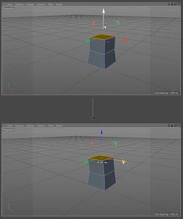 Ekstrusi poligon dari basis