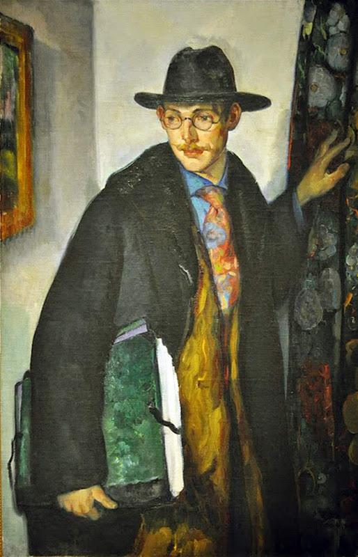Leon Kroll, Self Portrait, Portraits of Painters, Fine arts, Portraits of painters blog, Paintings of Leon Kroll, Painter Leon Kroll