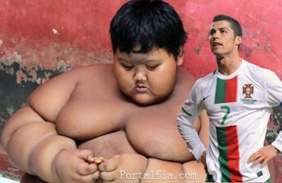 Ingin Bertemu Ronaldo adalah Impian Terbesar Arya Bocah Obesitas Asal Karawang