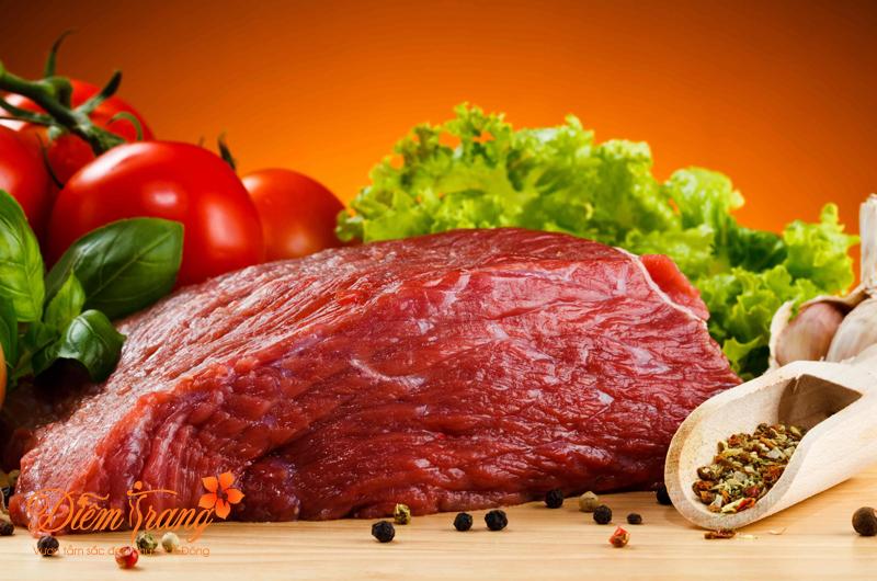 Nên kiêng cử thịt bò sau khi phun môi
