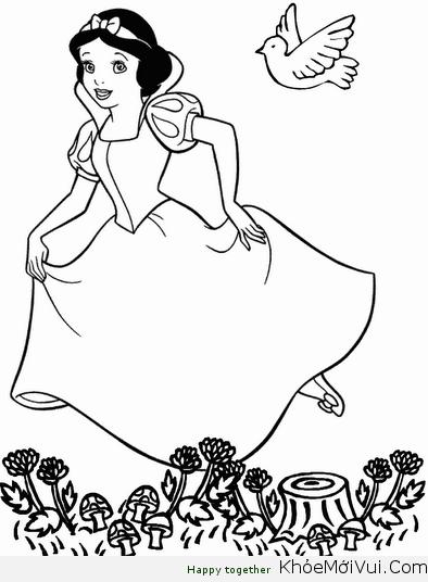 Tranh tô màu công chúa