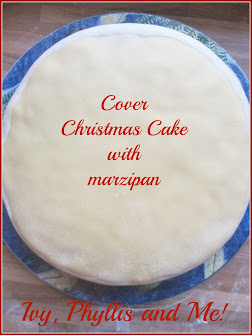 CHRISTMAS CAKE COVERED WITH MARZIPAN