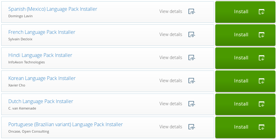 New Pentaho Language Pack Installers - Dutch, French, Hindi, Korean