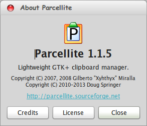 Parcellite, Clipboard Manager di Linux