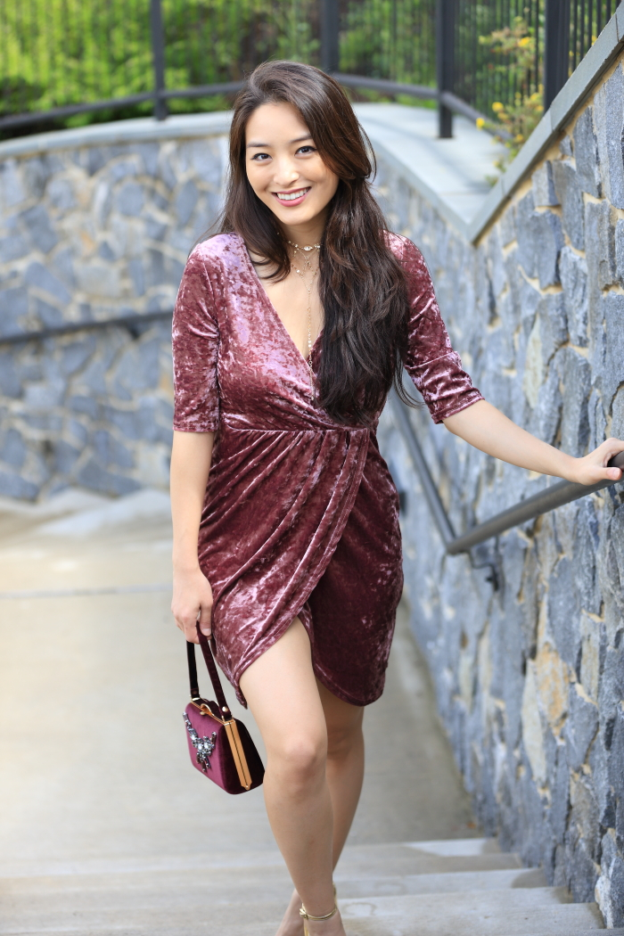 velvet minidress